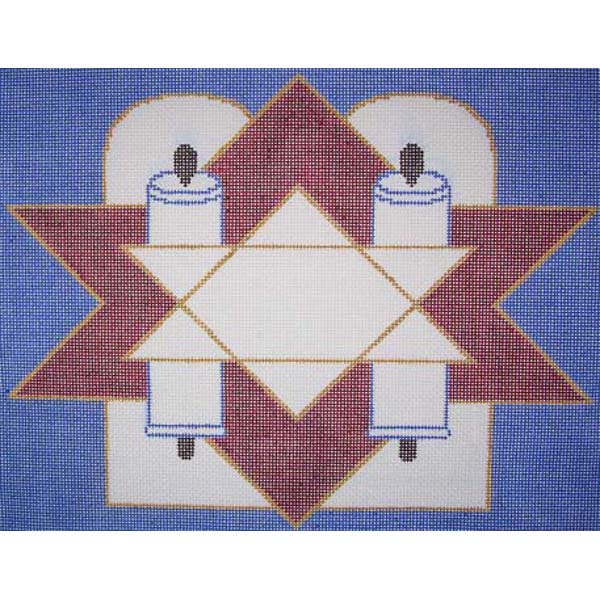 tallis cover needlepoint canvas by Sally corey