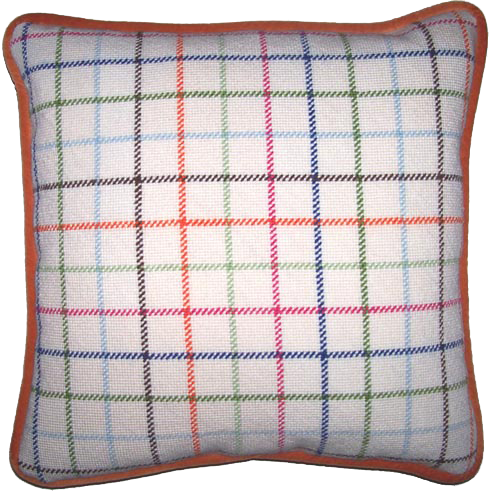 Image of Coach Tattersall Needlepoint Pillow