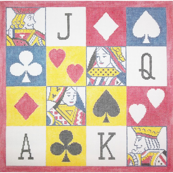 Sally Corey Playing Cards needlepoint canvas
