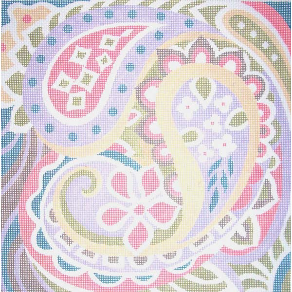 Classic Paisley Needlepoint hand painted by Sally Corey