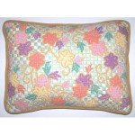 Clematis Scroll Needlepoint pillow by Sally Corey