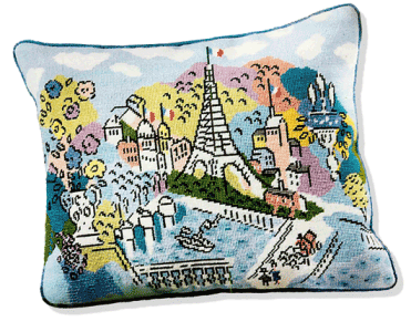 Image of Eiffel Tower Pillow