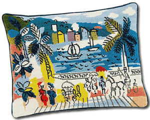 St Tropez Needlepoint cushion