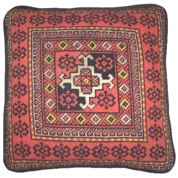 baluchi needlepoint canvas hand painted by Sally Corey