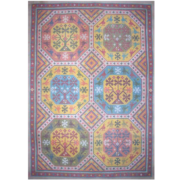 folkloric rug needlepoint by sally corey