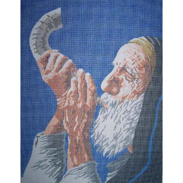 rabbi shofar needlepoint sally corey