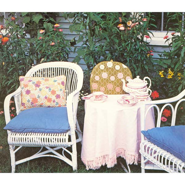 Hana & Clematis needlepoint designs by Sally Corey