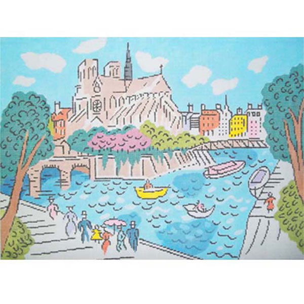Sally Corey Notre Dame de Paris needlepoint canvas